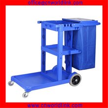 Housekeeping Service Plastic Cleaning Hotel Trolley/Cart