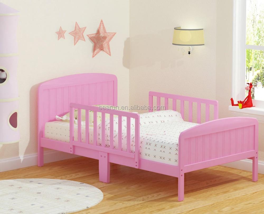 Wood Toddler Bed : Wood Toddler Bed : Pink Wooden Toddler Bed
