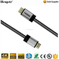 HDMI Cable 6ft - HDMI 2.0 - 28AWG Braided Cord 18Gbps - Gold Plated Connectors - Ethernet, Audio Return - Video 4K 3D HD 1080p