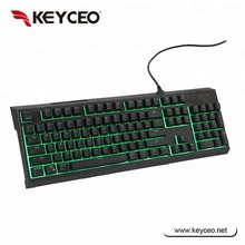 Fashion RGB backlit Semi-mechanical gaming keyboard with Double injection keycap
