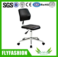 High Quality Movable Black Plastic Lab Stool/Adjustable Laboratory Chair