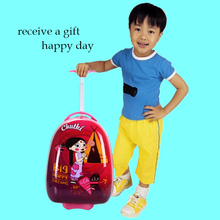 Lovely luggage bags for children cartoon pattern case for kids school travel hand bags for student