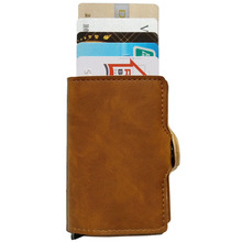 Business Slim Leather <strong>Wallet</strong> RFID Blocking- Quick Card Access