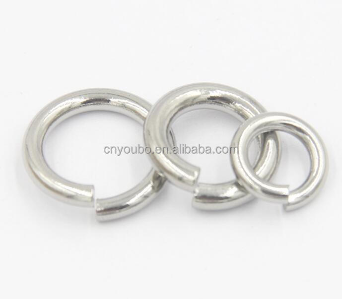 stainless steel polished jewelry clasp assembly jump ring wholesale
