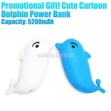 Promotional Gift! Cute Cartoon Dolphin 5600mAh Power Bank Cell Phone Battery for Mobile Phones Made in China