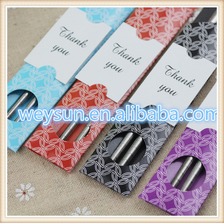 Awesome Chopstick Wedding Favors Photo Wedding Dress Inspiration