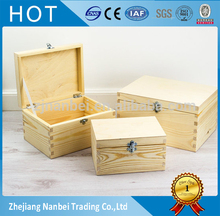 Custom logo wooden storage box hinging lid wood boxes for seeds