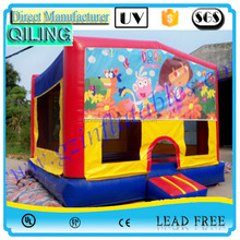 2016 QiLing Exciting indoor inflatable bouncer for kids play /funny inflatable play bouncer