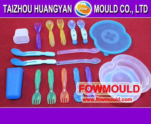 OEM customer injection plastic cutlery spoon knife folk sets mold maker