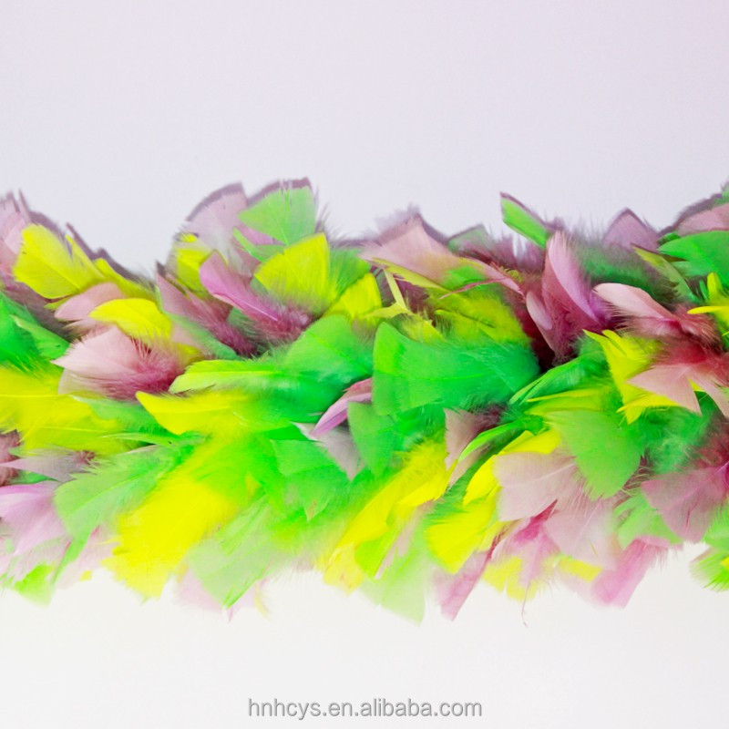 Beautiful Yellow Green and Purple Feather Boa - 1.8m Long - Ideal for Dance or Fancy Dress