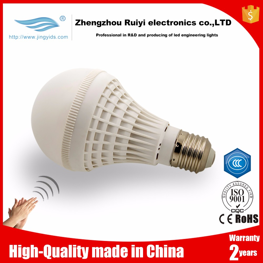 led sensor ceiling light easy installation sound control E27 bulb lamp voice activated lighting