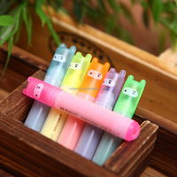Cute Mini Dots Striped Highlighter Paint Marker Pen Drawing Liquid Chalk Stationery School Office Supply Kids Gift