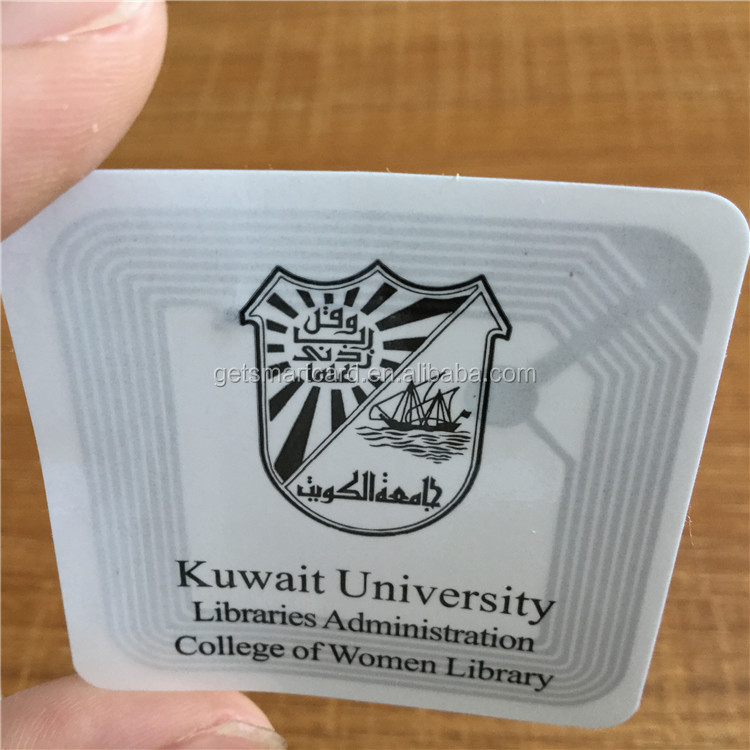 50x50mm square shaped ISO15693 RFID Stickers for Library