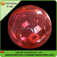 Christmas half openable transparent plastic balls