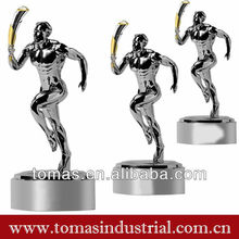 Fashion decorative sport pewter custom action figure