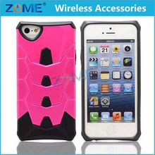 Mobile Phone Case For IPhone 5 2015 new stylish Hard Soft Rubber Hybrid Armor Impact Box Case Cover