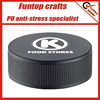 Polyurethane foam logo printing hockey puck stress ball