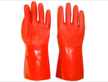 CAT3 PVC gloves -chemical resistance fully coated and fine sandy finish GSP6231R