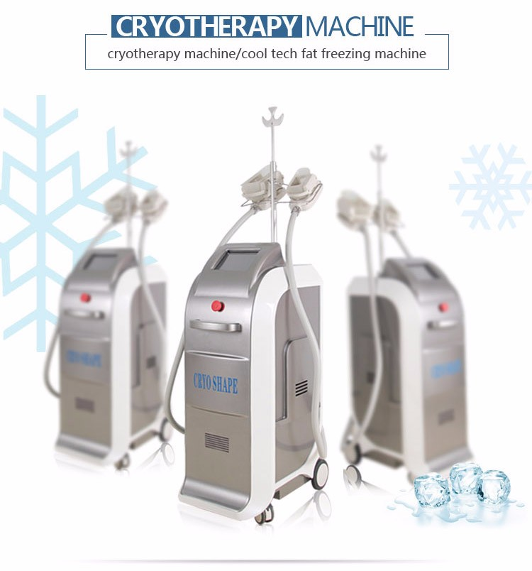 2017 cool tech Vacuum belly fat reducing newest fat freezing machine with three cryotherapy slimming head