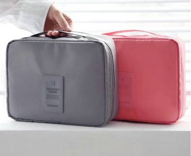 Korea make up bag large capacity hand bag portable waterproof travel toiletry bags