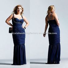 More discount beaded straps floor length plus size prom dress with stole CWFap230