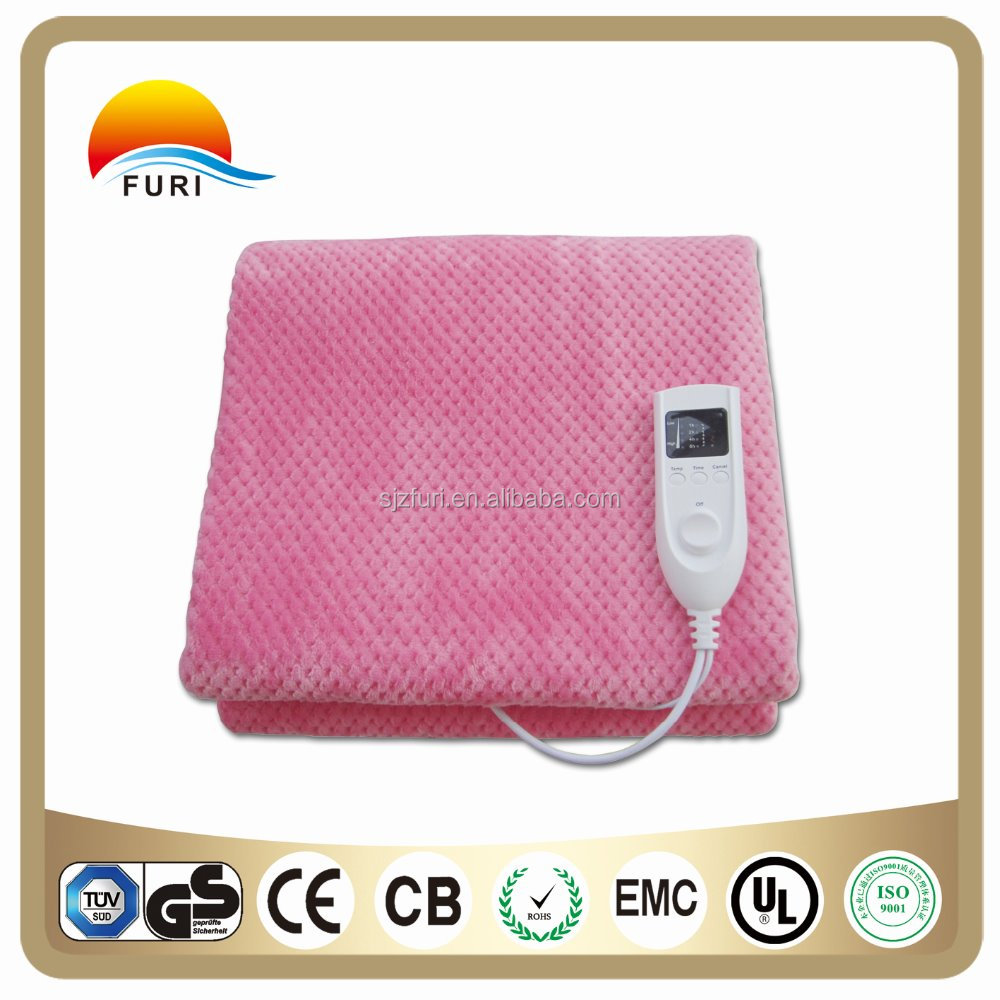 electric blanket thermostat controller with soft fleece