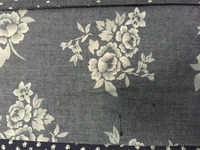printing fashionable denim fabric best selling in korea
