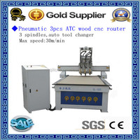 Jinan workshop 1325 vacuum table multi head cnc router wood machine