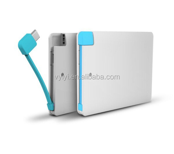 (Hot) 2500mAh Credit Card Power Bank, Slim Power bank 2500mAh for Smartphone, Flat Name Card Power Bank 2500mAh for Promotions