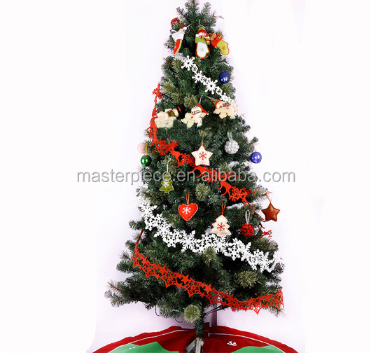 Export high quality decorated snowflake felt xmas tree hanging, felt Christmas decoration
