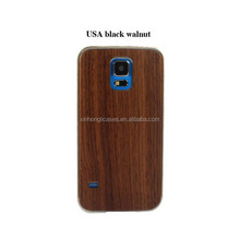 For Samsung Galaxy S5 Metal Frame+Wood Back cover Case