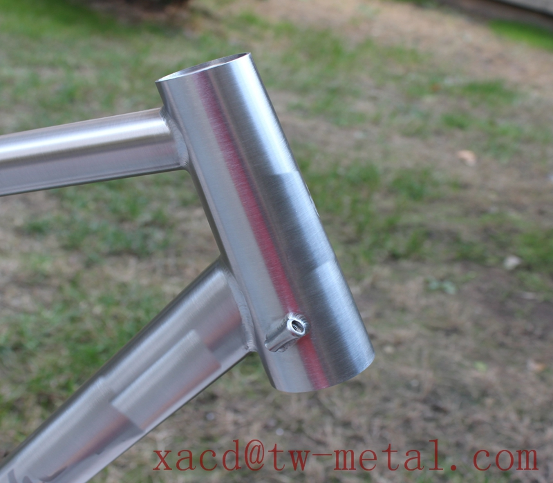 Titan MTB bike frame XACD made ti bike frame with disc brake Titanium mountain bicycle frame with thru axle dropouts