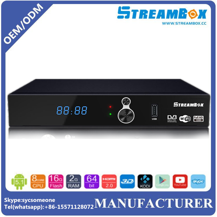 2017 Wholesale Full HD 1080P DVB-S2 Ali 3510C/Sunplus 1506g MPEG-2/4 Digital Satellite Receiver