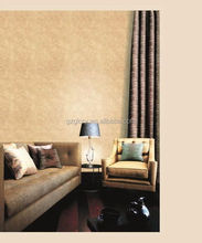 Glory luxury home wallpaper classic style optional color PVC embossed bedroom wallpaper