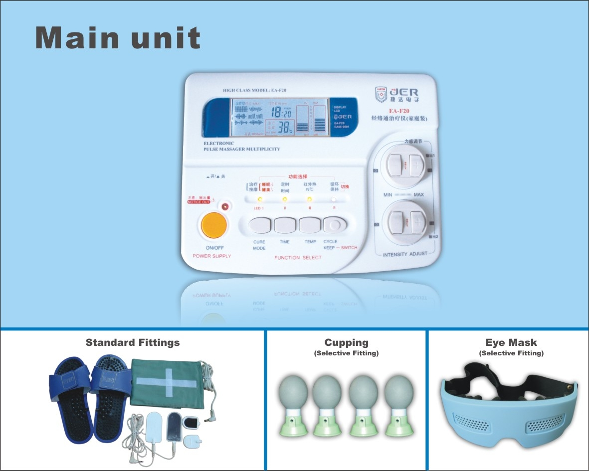 TENS unit/Nerve and muscle stimulator EA-F20,with CE,ISO 13485