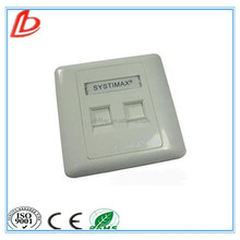fast delivery Systiamx 2 ports rj45 network cable face plate,network wall outlet face plate