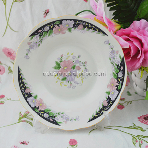 porcelain food dishes / porcelain letter dish /replaceable back plate made in china