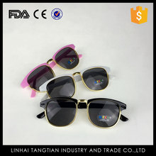 TTY-0038 PC plastic material promotional fashion children adult UV400 sunglasses 2016 new PC plastic sun glasses