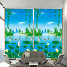 Easy pulling type of office window cartoon roller blind curtainsin lahore pakistan