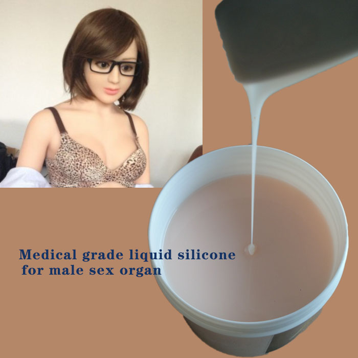 Medical grade liquid silicone for male sex organ