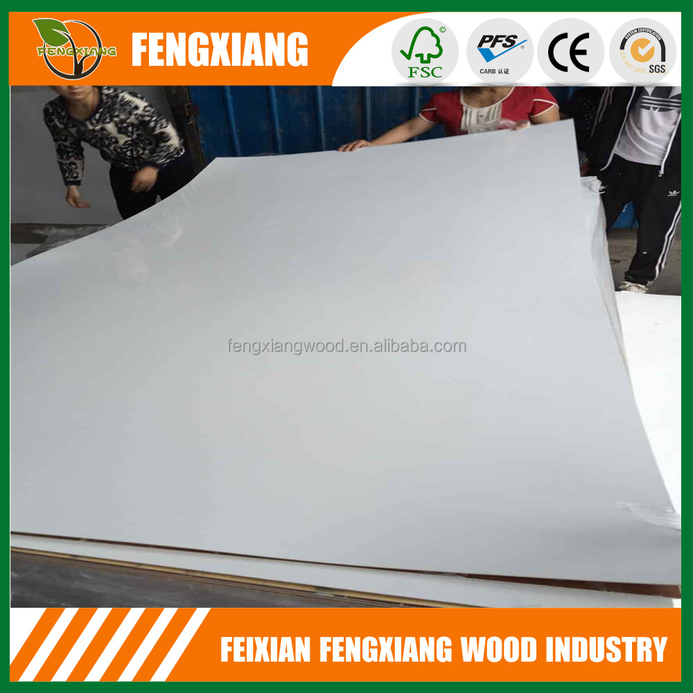 White gloss 1.6mm polyester plywood from Shandong factory