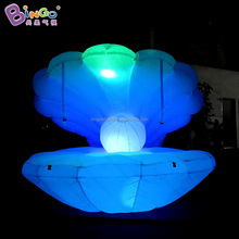 Customized 3 meters dia led inflatable seashell balloon for display