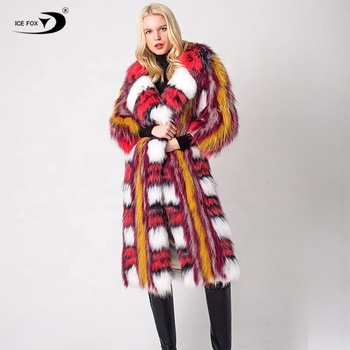 Knit For Women Thick 2019 New Luxurious High Quality Popular Hot Selling Knitting Fox Fur Coat