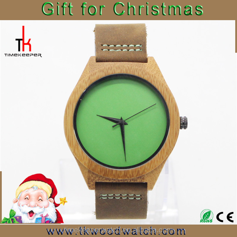 Hot sale christmas gifts in bulk ,colorful bamboo watches ,watches in storage