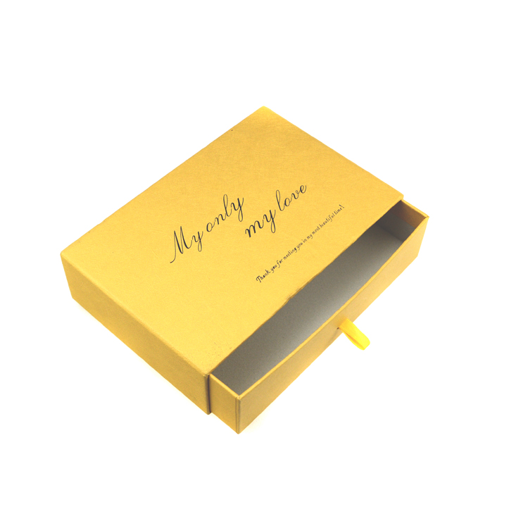 Make logo printed ring gift paper drawer boxes paper cardboard jewelry box