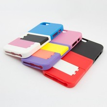combined cell phone case for iphone 5 case, doubie support stand case for iphone 5 case ,hot selling case