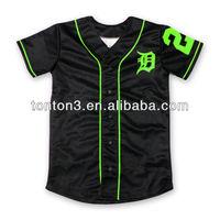 new designs men's blank baseball jersey