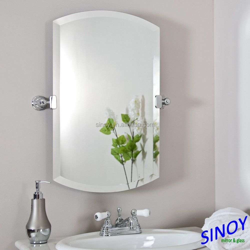 Bathroom / Furniture / Decorative Use Bevelled Edge Silver Mirror / Bevelled Mirror Glass in different shapes and sizes