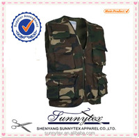 Made in China Promotion Unpadded Vest Camouflage Clothing