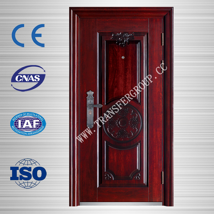 Modern design red security steel door